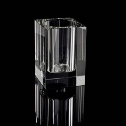 Optical crystal pen holder
